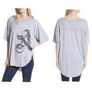 Free People Letter A Graphic Tee